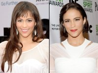 Paula Patton with long hair and with a bob haircut