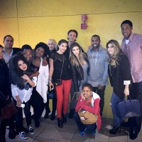 Kim Kardashian and Kanye West with friends for Thanksgiving