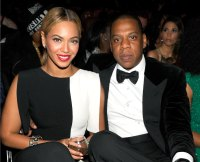 Beyonce and Jay Z at the 2013 Grammys