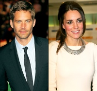 Paul Walker and Kate Middleton