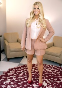Jessica Simpson poses for Weight Watchers