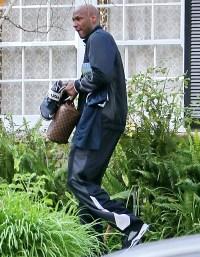 Lamar Odom in Los Angeles, California on December 17, 2013