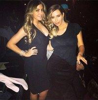 Kim Kardashian instagram at the Kanye show in Chicago