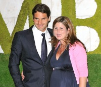 Rodger and Mirka Federer July 5, 2009 in London, England