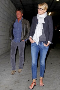 Charlize Theron and Sean Penn at the ArcLight Cinemas in LA