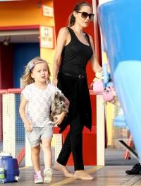 Angelina Jolie takes her children to Luna Park in Sydney Australia