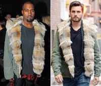 Kanye West and Scott Disick wearing the same jacket