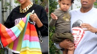 Beyonce, Blue Ivy and Jay-z in Miama Florida