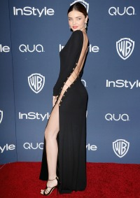 Miranda Kerr at InStyle & Warner Bros. Golden Globe Awards Post-Party