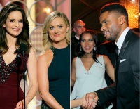 Tina Fey and Amy Poehler; Kerry Washington and Nnamdi Asomugha