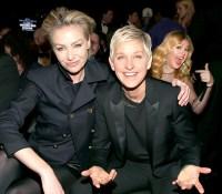 Portia de Rossi, Ellen DeGeneres and Kelly Clarkson