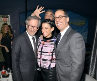 Steven Spielberg, Jessica Seinfeld, George Clooney and Jerry Seinfeld