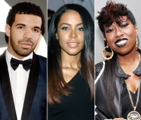 Drake, Aaliyah and Missy Elliott