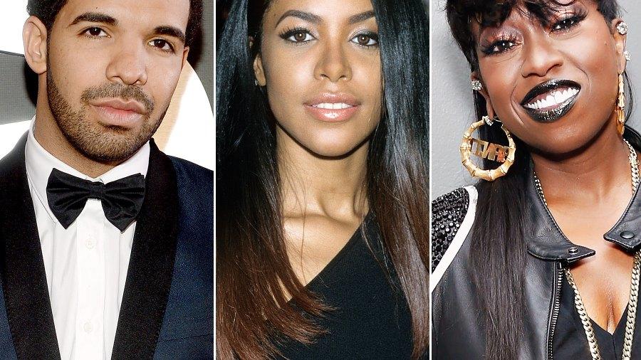 Drake, Aaliyah and Missy Elliott