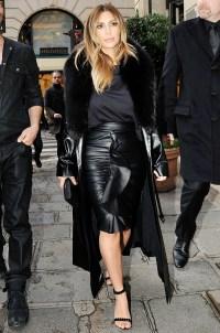 Kim Kardashian in Paris on January 20, 2014