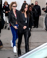 Cara Delevingne and Michelle Rodriguez in Paris