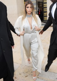 Kim Kardashian in Paris on January 21, 2014