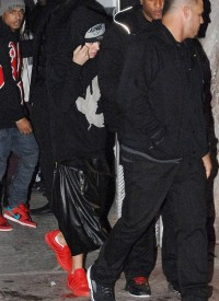 Justin Bieber leaving a club in Miami on January 23, 2014