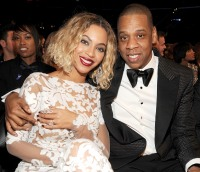 Beyonce and Jay-Z at the Grammy Awards on January 26, 2014