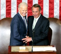 Joe Biden and John Boehner during the State of the Union address