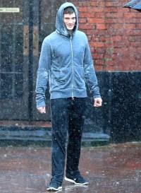 Jamie Dornan filming 50 shades of Grey