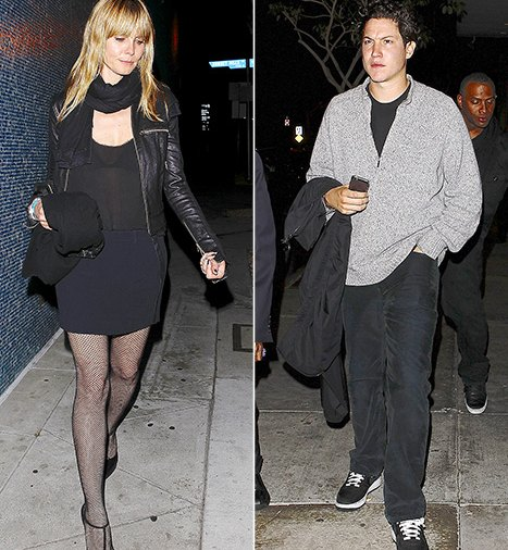 Heidi Klum and Vito Schnabel leave Bootsy Bellows on Feb 8, 2014