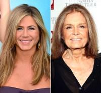Jennifer Aniston and Gloria Steinem