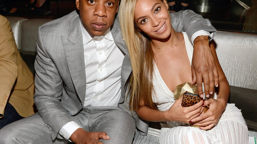 Jay-Z and Beyonce at 40/40 Club on June 17, 2013 in New York City