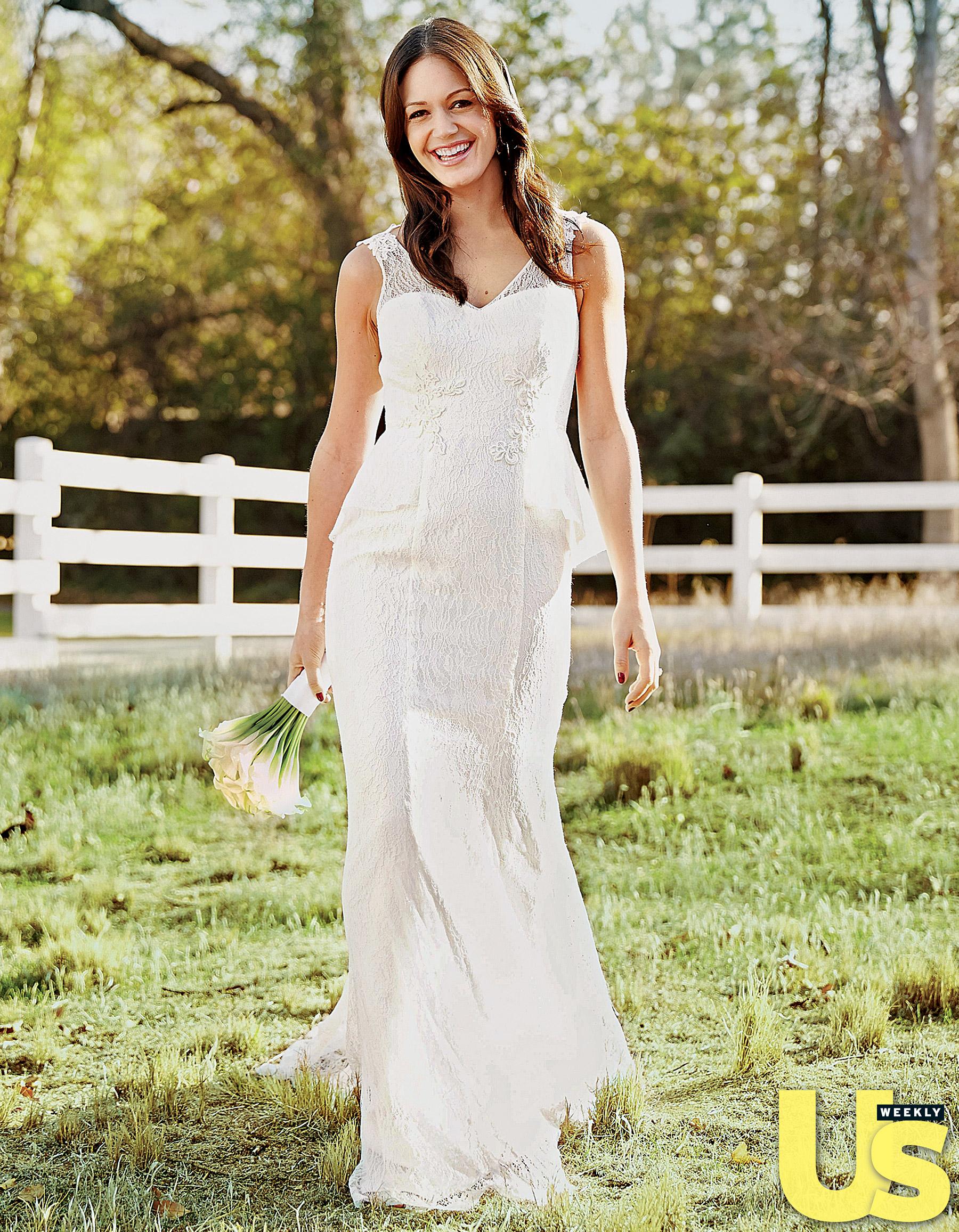 Desiree Hartsock in a wedding dress