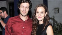 Adam Brody and Leighton Meester on September 14, 2012 in New York City