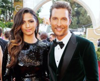 Camila Alves and Matthew McConaughey on January 12, 2014