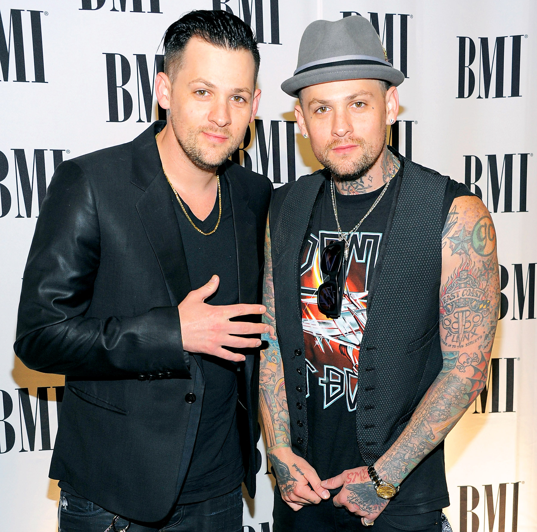 Tattooed twins! These two identical twins rose to fame through their band Good Charlotte, taking Hollywood -- and its gorgeous ladies -- by storm.