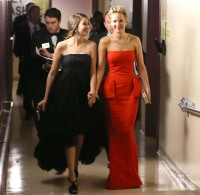 Jennifer Lawrence backstage during the Oscars held at Dolby Theatre