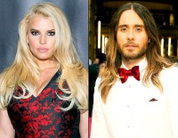 Jessica Simpson and Jared Leto