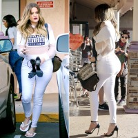 Khloe Kardashian gets her nails done on March 20, 2014