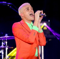 Neon Trees frontman Tyler Glenn performs at the Couture Las Vegas
