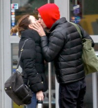 Newlyweds Adam Brody and Leighton Meester kiss in NYC on April 2, 2014
