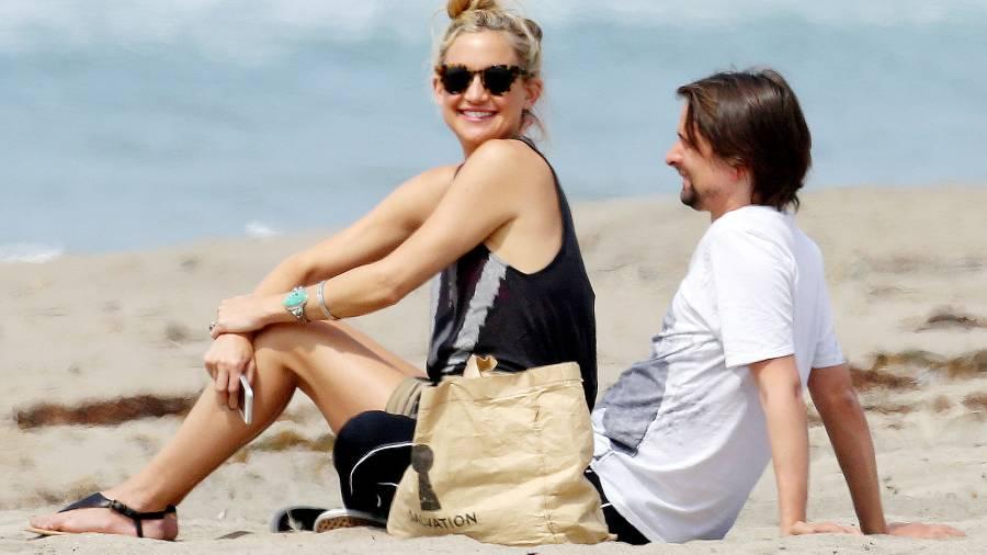 Kate Hudson & Matthew Bellamy in Malibu, California on March 29, 2014