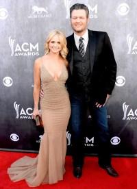 Miranda Lambert and Blake Shelton at the 49th Annual ACM Awards