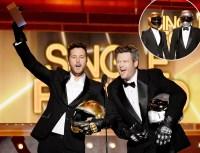 Luke Bryan and Blake Shelton pretend to be Daft Punk at the 2014 ACMs