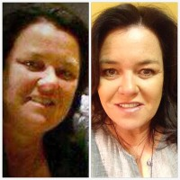 Rosie O'Donnell posted this photo of her weight loss