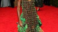 Lupita Nyong'o wears an interesting Prada dress at Met Gala 2014