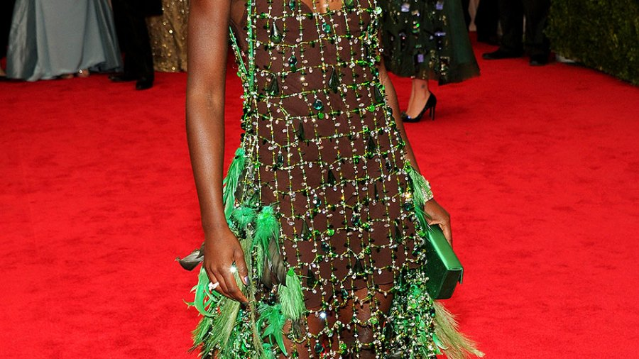 Lupita Nyong'o wears an interesting Prada dress at Met Gala 2014
