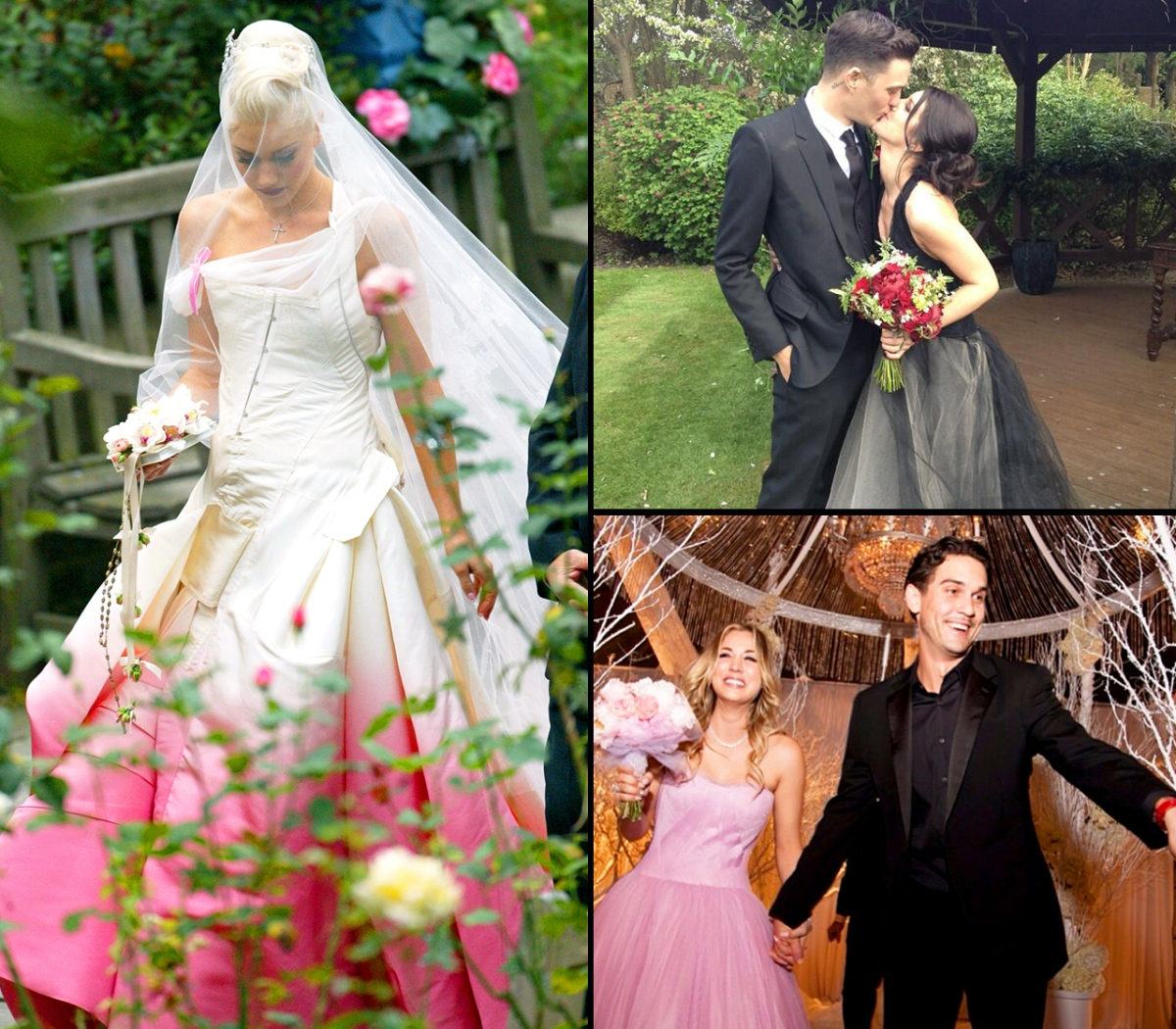 Celebrity Brides Who Don\'t Wear White: Yellow, Pink, Black, and More ...