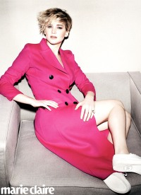 Jennifer Lawrence poses for the June 2014 issue of Marie Claire