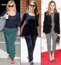 Reese Witherspoon, Jessica Alba and Olivia Palermo wear printed pants
