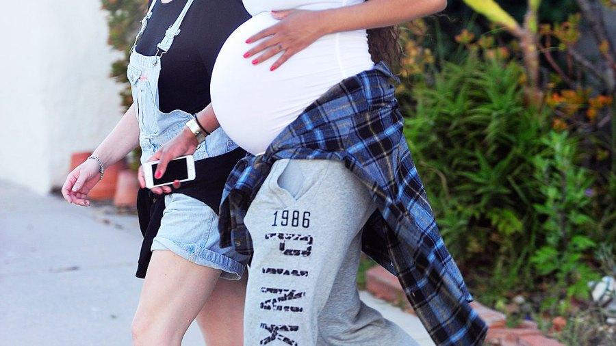 Ciara and her massive baby bump on May 12, 2014