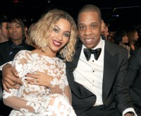 Beyonce and Jay-Z at the 56th GRAMMY Awards on Jan. 26, 2014