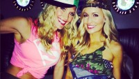 Emily Maynard and a friend at her Bachelorette Party