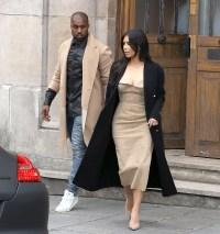 Kim Kardashian and Kanye West leave Maison Martin Margiela showroom